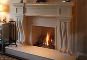 Omega Mantels of Stone, specializing in cast stone products for fireplace